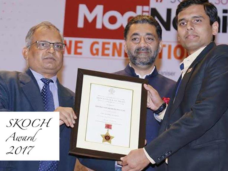 SKOCH Top 100 SME Certificate 2017